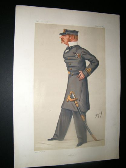 Vanity Fair Print 1877 Allen Young, Military | Albion Prints